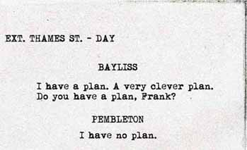 Do you have a plan, Frank?